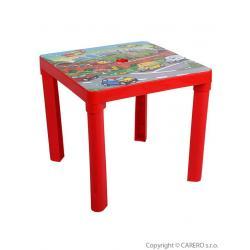 Dětský zahradní nábytek - Plastový stůl červený Červená
