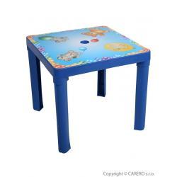 Dětský zahradní nábytek - Plastový stůl modrý Modrá