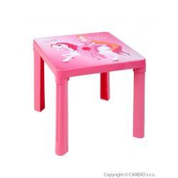 Dětský zahradní nábytek - Plastový stůl růžový Růžová