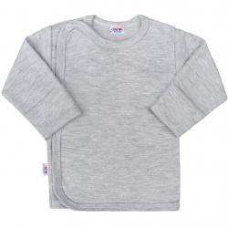 Kojenecká košilka New Baby Classic II šedá Šedá velikost - 50
