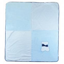 Dětská deka Koala Mozaika modrá Modrá