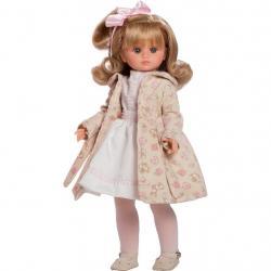 Luxusní dětská panenka-holčička Berbesa Flora 42cm Béžová