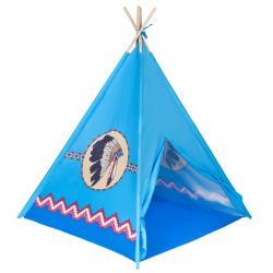 Dětský indiánský stan PlayTo modrý Modrá