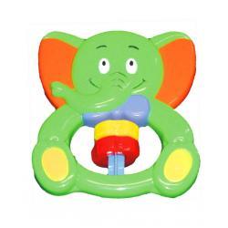 Chrastítko Baby Mix Sloník Zelená