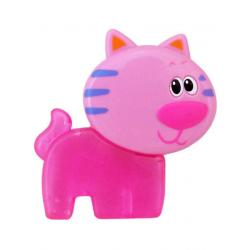 Chladící kousátko Baby Mix Kočíčka růžové Růžová