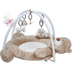 Luxusní hrací deka s melodií PlayTo medvídek Hnědá