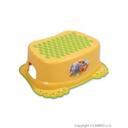 Dětské protiskluzové stupátko do koupelny žluté tlapky Žlutá