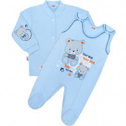 2-dílná souprava New Baby teddy modrá Modrá velikost - 68 (4-6m)