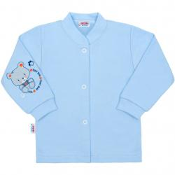 Kojenecký kabátek New Baby teddy modrý Modrá velikost - 68 (4-6m)