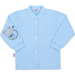 Kojenecký kabátek New Baby teddy modrý Modrá velikost - 74 (6-9m)