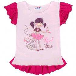 Dětská letní tunika New Baby Girl růžová Růžová velikost - 116 (5-6 let)