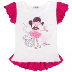 Dětská letní tunika New Baby Girl bílá Bílá velikost - 116 (5-6 let)
