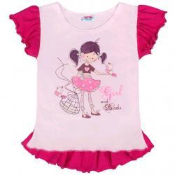 Dětská letní tunika New Baby Girl růžová Růžová velikost - 122 (6-7 let)