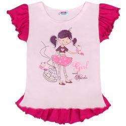 Dětská letní tunika New Baby Girl růžová Růžová velikost - 140 (9-10 let)