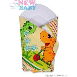 Dětská zavinovačka New Baby oranžová s dinem Oranžová