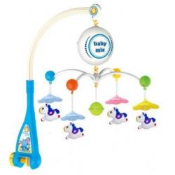 Elektrický kolotoč nad postýlku Baby Mix Koníčci Multicolor