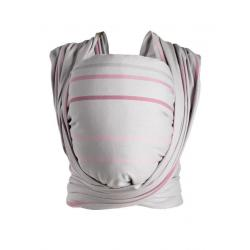 Šátek Womar na nošení dětí Be Close v Eko krabici růžovo-šedý Šedá
