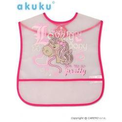 Dětský bryndák s kapsičkou Akuku Růžová velikost - Délka nad 32 cm