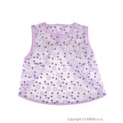 Dětský bryndák - zástěrka Akuku fialový s květinkami Fialová velikost - Délka nad 32 cm