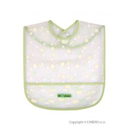 Dětský bryndák s kapsičkou Akuku zelený s bublinkami Zelená velikost - Délka do 32 cm