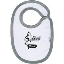 Kojenecký bavlněný bryndák New Baby Music Bílá velikost - Délka do 22 cm