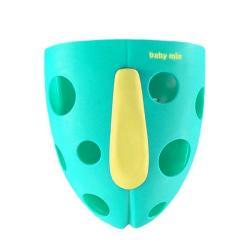 Plastový box na hračky do vany Baby Mix mátový Zelená
