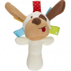 Plyšová hračka s pískátkem Akuku pejsek Béžová