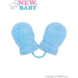 Dětské zimní rukavičky New Baby se šňůrkou modré Modrá velikost - 62 (3-6m)