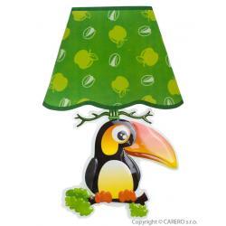 Svítící samolepící LED lampička Bayo tukan Zelená