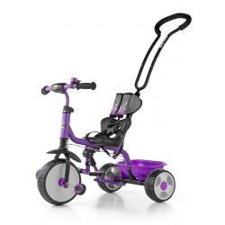 Dětská tříkolka se zvonkem Milly Mally Boby 2015 purple Fialová