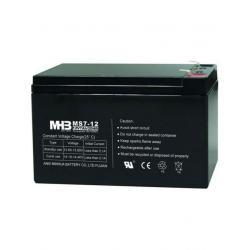 Pb akumulátor MHB VRLA AGM 12V/7Ah (MS7-12)-faston 6,3 mm Černá