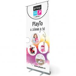 Reklamní Roll-up banner PlayTo Dle obrázku