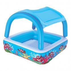 Dětský nafukovací bazén se stříškou Bestway korálový útes Modrá