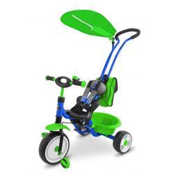 Dětská tříkolka Milly Mally Boby Delux blue-green Modrá