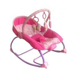 Lehátko pro miminko 2v1 Baby Mix růžové Růžová