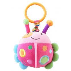 Dětská plyšová hračka s vibrací Baby Mix beruška Růžová