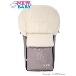 Luxusní fusák s ovčím rounem New Baby béžový Béžová