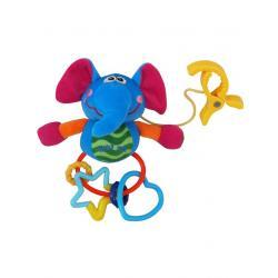 Plyšová hračka s chrastítkem Baby Mix slůne Modrá