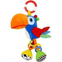 Plyšová hračka s vibrací Baby Mix tukan Oranžová