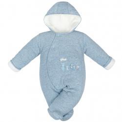 Zimní kojenecká kombinéza Baby Service Animals modrá Modrá velikost - 56 (0-3m)
