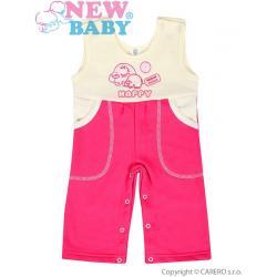Dětské lacláčky New Baby Happy malinové Růžová velikost - 74 (6-9m)