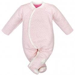 Kojenecká kombinézka Baby Service Čtyřlístek Růžová velikost - 56 (0-3m)