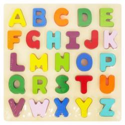 Dětské dřevěné puzzle s úchyty Baby Mix Písmena Dle obrázku