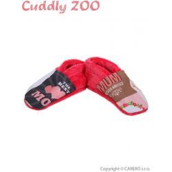 Bačkůrky Cuddly Zoo Máma S korálová Červená