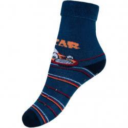Dětské froté ponožky New Baby s ABS tmavě modré car Modrá velikost - 80 (9-12m)