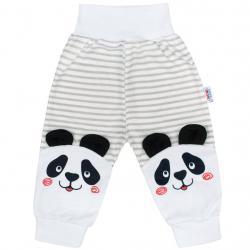 Kojenecké tepláčky New Baby Panda Šedá velikost - 62 (3-6m)