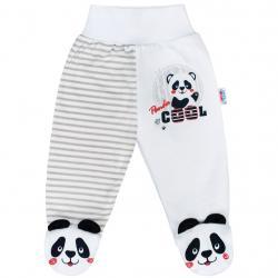 Kojenecké polodupačky New Baby Panda Šedá velikost - 56 (0-3m)