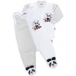 Kojenecká souprava New Baby Panda Šedá velikost - 56 (0-3m)