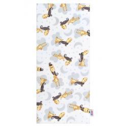 Bavlněná plena s potiskem  New Baby bíla s hnědou žirafou Bílá