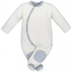 Kojenecká kombinézka Baby Service Cik-Cak Šedá velikost - 56 (0-3m)